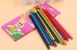12pzas lápices de colores en forma triangular con Extremo afilado