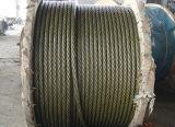 6X36sw+FC ou noir en acier de corde de fil d'acier d'Ungalvanized de faisceau
