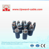 PVC à 4 coeurs isolés en polyéthylène réticulé les câbles de puissance électrique