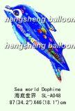 Balão do hélio da folha--Peixes (10-SL-105)