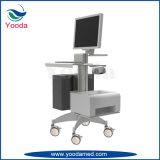 Carrello medico dell'ospedale mobile con la pattumiera