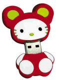 Cartoon PVC Lecteur Flash USB de mémoire (PZM1002)