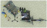 De Reeks van de Zeilen van de Branding van de Speelplaats van de Kinderen van Kaiqi met het Beklimmen van het Spel van Acitivites van Oefeningen (KQ60119A)