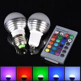 Luces cambiantes del día de fiesta de los bulbos E27 E14 B22 GU10 MR16 Gu5.3 del color teledirigido del RGB LED para las lámparas del partido