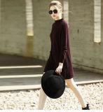 女性の方法カシミヤ織のセーターのタートルの首16brdw002-1