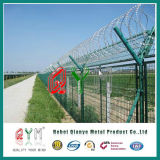 Загородка авиапорта колючей проволоки бритвы загородки службы безопасности аэропорта