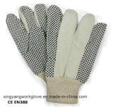 Поставленная точки перчатка работы руки техники безопасности на производстве перчаток хлопка холстины