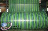 진한 파란색 녹색 체크 방수포