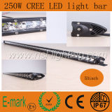 250W 50 pouces CREE LED Light Bar Rangée unique pour l'auto voiture camion 4X4 en jeep conduite hors route