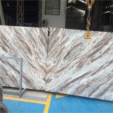 Silberne Dracheonyx-Marmor-Platte und Fliesen