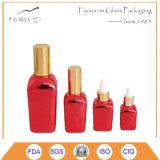 빨간색 유리제 유기 기름 병