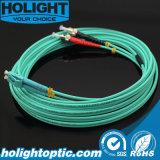 3,0 mm Duplex óptica Om3 Cable de fibra óptica Cableado Cable puente