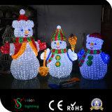 Muñeco de nieve de acrílico ligero al aire libre del LED