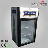 상단 거치해 광고 가벼운 상자 단 하나 유리제 진열장 (SC40B)