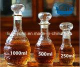 透過ガラスデカンターのワイングラスのびん250ml--1000ml