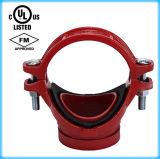Listado UL, FM la aprobación de hierro dúctil mecánica acanalada 165,1 t*60.3