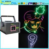 3 em 1 400-500RGB MW Texto de animação a luz laser para mostrar