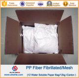 Волокно Ploymer формы сетки полипропилена Fibrillated штрангем-прессовани микро-