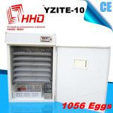 Incubadora pequena automática da galinha dos ovos de Hhd 1000 para a venda