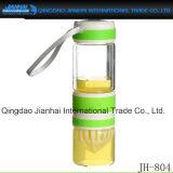 Glasflaschen-begleitetes Cup für Tee oder Wasser