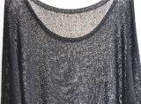 Dame-runder Stutzen-reine Farben-Pulloverknit-Strickjacke