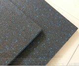 Stuoia di gomma della pavimentazione di ginnastica dell'interno durevole variopinta di Crossfit, strumentazione di forma fisica