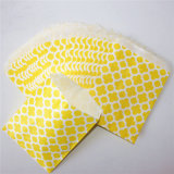 Sacchi di carta gialli ecologici del fiore per la decorazione del partito