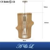 Lâmpada pingente de madeira de design moderno