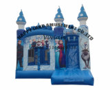 Gefrorenes Elsa federnd Schloss-aufblasbares Prahler-Plättchen