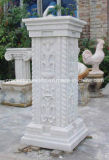 Pedestal De Pedra De Pedra Esculpida De Arenito, Base De Granito