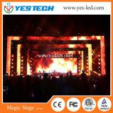 6kg pantalla de visualización de LED del alquiler de la cabina 500*500m m para hacer publicidad/etapa