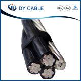 Surtidor de arriba aislado XLPE eléctrico del cable del ABC del aluminio de la energía
