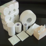 100% de papel de pulpa de madera virgen de papel de tejido / WC