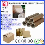A base de agua del tubo de papel del pegamento adhesivo sobreEl cartón corrugado