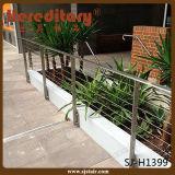 Disegno dell'inferriata del balcone dell'acciaio inossidabile per il terrazzo (SJ-H1435)