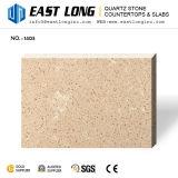 Dalles de pierre de quartz Beige pur pour les comptoirs de vente en gros/Engineered/Vanity Tops/Panneau mural