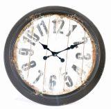 Populaires métallique rond de style ancien Horloge murale décoration maison