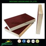 El uso de la Película de larga vida encofrados de madera contrachapada frente