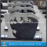 Albero poco costoso che intaglia pietra tombale con granito nero puro