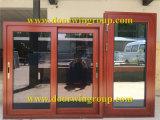 Finestra laminata di triplo/doppia di vetro Tempered di scivolamento, finestra di scivolamento di alluminio di rifinitura del legno di colore per la Camera