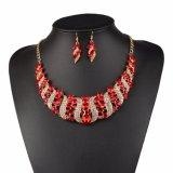 La joyería de la manera fija conjuntos de la joyería del anillo del pendiente del collar de la boda