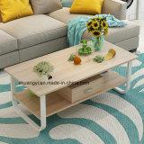 Tableau ou table basse d'extrémité en bois de salle de séjour bon marché blanche