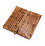 Бумажник карточки Brown изготовленный на заказ уникально сбор винограда конструкции кожаный