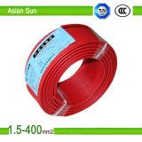 450/750V base de cuivre isolant en PVC souple câble métallique Thhn/BV/BVR