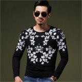 Coton à motifs floraux à manchon long Slim Fit Leisure/occasionnel Tee-shirt