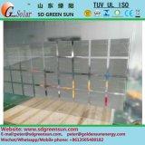 18V/160W二重ガラス太陽電池のパネル
