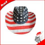 American Flag Hat, Cowboy Hat, chapéu de palha, American Star Hat