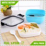 Einfacher Verschluss-Nahrungsmittelbehälter 2 Schicht-Mittagessen-Kasten Bento Mittagessen-Kasten-Nahrungsmittelbehälter BPA-Frei