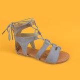 Schoenen Sandals van het Kant van het Suède van de Manier van kinderen Vlakke de omhoog voor Meisjes
