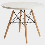 """Mesa de jantar redonda 24"""" topo MDF perna de pau que Poupa Espaço elegante mesa de pequeno-almoço"""